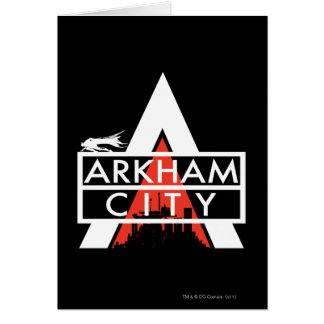 Arkham都市ロゴの白 カード
