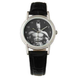 Arkham都市|バットマンの白黒広い姿勢 腕時計