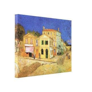 Arlesのファインアートのゴッホヴィンチェンツォの家 キャンバスプリント