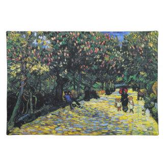 Arlesの花盛りのクリの木が付いている道 ランチョンマット