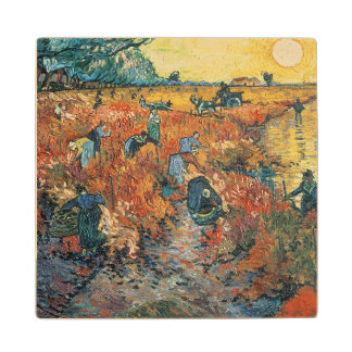 Arles 1888年のフィンセント・ファン・ゴッホ|の赤のブドウ園 ウッドコースター