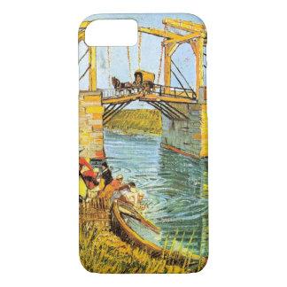 Arles wの女性の洗浄のゴッホLanglois橋 iPhone 8/7ケース