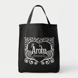 Aroha Aotearoaの戦闘状況表示板-暗闇 トートバッグ
