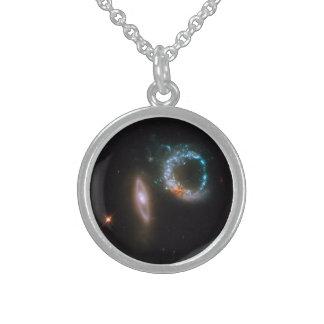 ARP 147の銀河系 スターリングシルバーネックレス