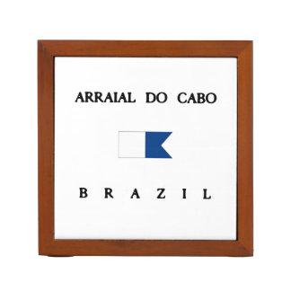 ArraialはCaboブラジルのアルファ飛び込みの旗をします ペンスタンド