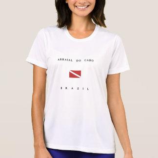 ArraialはCaboブラジルのスキューバ飛び込みの旗をします Tシャツ
