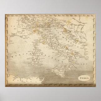 Arrowsmith著イタリアの地図 ポスター