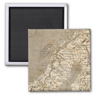 Arrowsmith著スウェーデン、ノルウェーの地図 マグネット