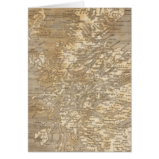 Arrowsmith著スコットランドの地図 カード