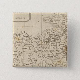 Arrowsmith著ヨーロッパの地図のトルコ 5.1cm 正方形バッジ