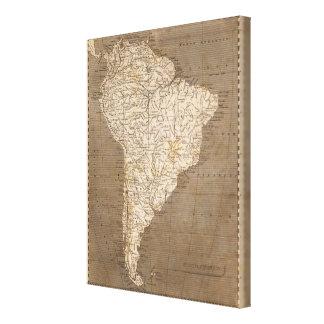 Arrowsmith著南アメリカの地図 キャンバスプリント