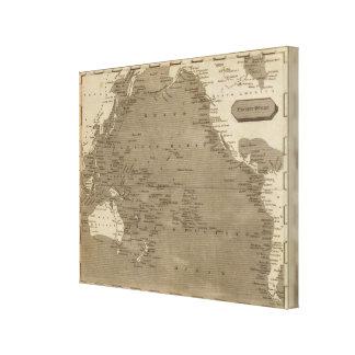 Arrowsmith著太平洋の地図 キャンバスプリント