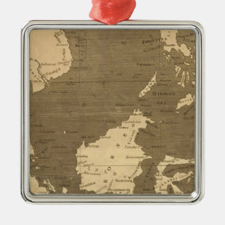 Arrowsmith著東のインドの島の地図 メタルオーナメント