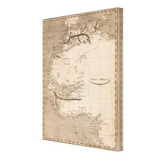Arrowsmith著西アフリカの地図 キャンバスプリント