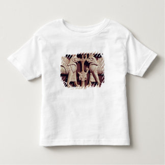 Arslan Tashからの2つのgriffonsを、描写するレリーフ、浮き彫り トドラーTシャツ