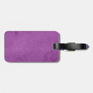 Art101エリートのサテンの絹の一見-神聖な紫色 ラゲッジタグ