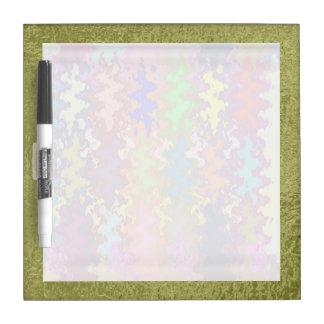 Art101サテンの絹の緑のボーダー-軽い夢の波 ホワイトボード