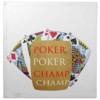 ART101トランプのポーカーのチャンピオン-芸術nデザイナー文字 ナプキンクロス