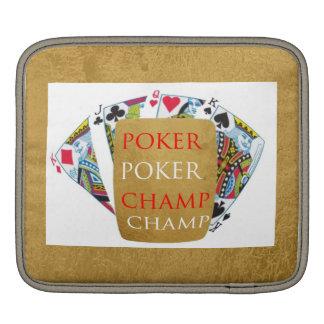 ART101トランプのポーカーのチャンピオン-芸術nデザイナー文字 iPadスリーブ