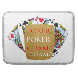 ART101トランプのポーカーのチャンピオン-芸術nデザイナー文字 MacBook Proスリーブ