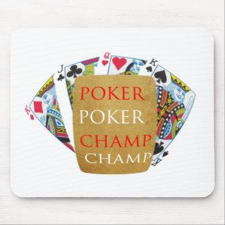 ART101トランプのポーカーのチャンピオン- Zazzle PlayingCardsのデザイン マウスパッド