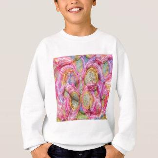 Art101ピンクの落書き-エキゾチックな海の貝 スウェットシャツ