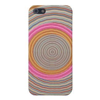 Art101壮大で暖かい色- SilkSatinの円 iPhone 5 カバー
