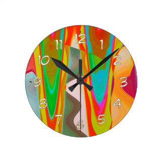 ART101影の話のグラフィックの抽象芸術 ラウンド壁時計