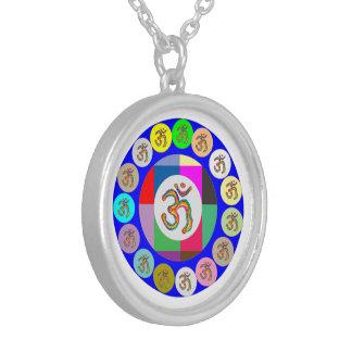 Art101芸術的なOMの信念の円 シルバープレートネックレス