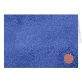 Art101金ゴールドのシール-青い果実のサテンの絹のブランク カード