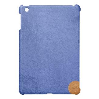 Art101金ゴールドのシール-青い果実のサテンの絹のブランク iPad Mini Case