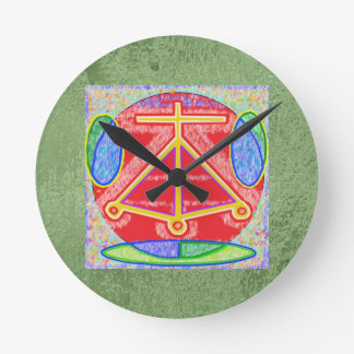 Art101霊気n Karunaの治療の記号のコレクション ラウンド壁時計