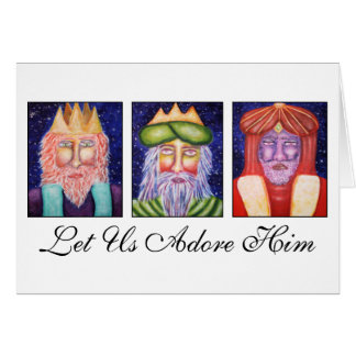 "Art 3人の王は""使用を崇拝します彼を""クリスマス許可しました グリーティングカード"
