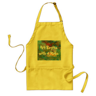 Art Begins with a Mess Apron スタンダードエプロン