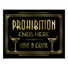 Art Deco PROHIBITION ENDS HERE Sign Print ポスター