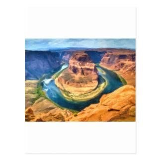 art-Horseshoe_Bend_Colorado_River ポストカード