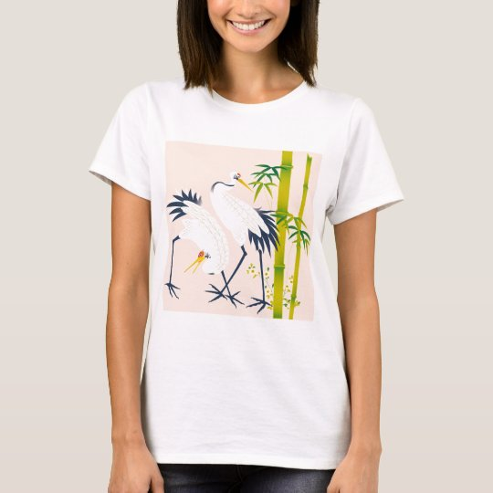 art of beautiful cranes in the bamboo thicket tシャツ