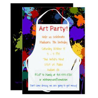Art Party Brights Paints 11.4 X 15.9 インビテーションカード