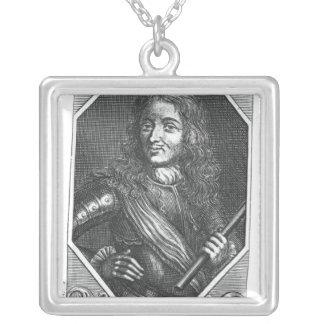 Artagnanのチャールズde Montesquiou Count シルバープレートネックレス