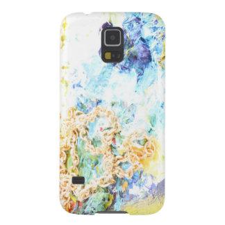 Artandra著春の青そして金ゴールド Galaxy S5 ケース