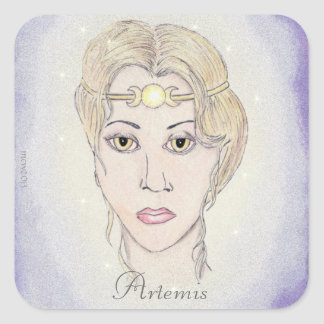 Artemisの月の女神 スクエアシール
