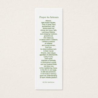 Artemisの祈りの言葉カード スキニー名刺