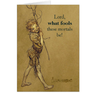 Arthur Rackham Puck Lord what fools CC0888 カード