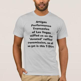 Artigasの性能のトランスアクスルレイアウト Tシャツ