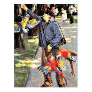 Artisのマックス・リーバーマンの絵画のオウムの世話人 ポストカード