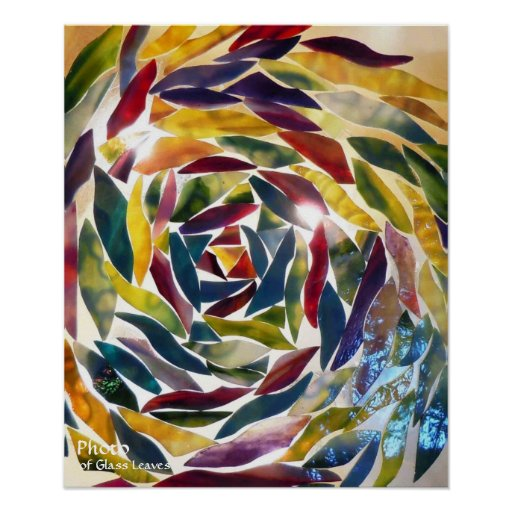 Artistic Glass Photo Modern Art Wallpaper ポスター