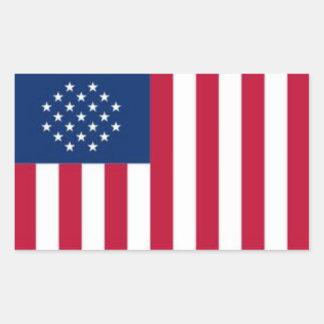 ASAの旗のステッカー 長方形シール