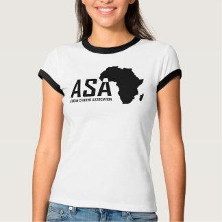 ASAの白人のティーの女性 Tシャツ
