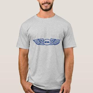 ASAの青によってはロゴが飛びます Tシャツ