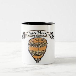 ASA GLEEKは盾のロゴを設計します ツートーンマグカップ